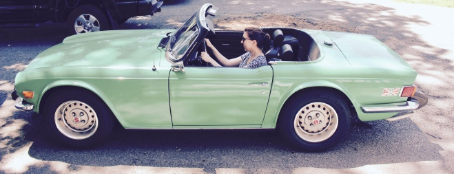 Cruising in our Triumph to Yellow Springs
